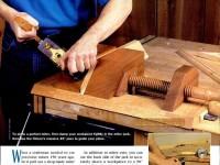 тиски для столярки из дерева