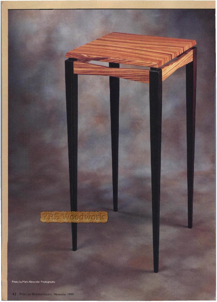 Столик с высокими ножками